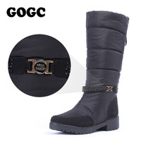 GOGC Waterproof Winter Boots Women Snowboots 2018 Warm Winter Shoes Women Big Size Comfortable Brand Women Boots Knee High Black