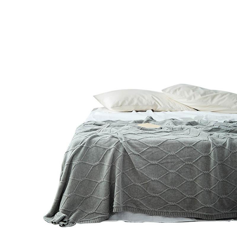 100% Kwaliteit Katoen Raster Gebreide Gooi Deken Dekens Voor Bed Sofa Warm Cobertor Laken Baby Fotografie Props Woondecoratie 130x180 Cm Opruimingsprijs