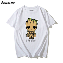 I am Groot T Shirt Women Avengers Print 100% Cotton Funny Tops Tee Unisex Casual O Neck Short Sleeve Streetwear Clothes