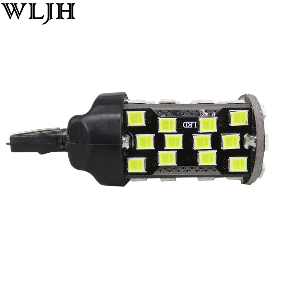 WLJH 2x 10W Canbus T20 7440 W21W Led 60 2835 SMD Auto Car Bulb Turn Signal DRL Daytime Running Light Reverse Backup Lamp Light wljh 2x canbus led 20w 1156 ba15s p21w s25 bulb 4014smd car lamp drl daytime running light for volkswagen vw t5 t6 transporter