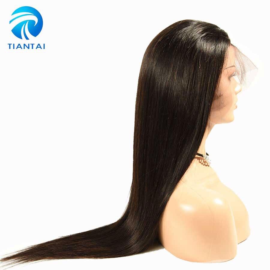 TIANTAI Malaysische Remy Haar Perücken 360 Spitze Frontal Perücke mit Baby Haar Gerade Vor Gezupft Menschliches Haar Perücken 8- 22 zoll 150 Dichte