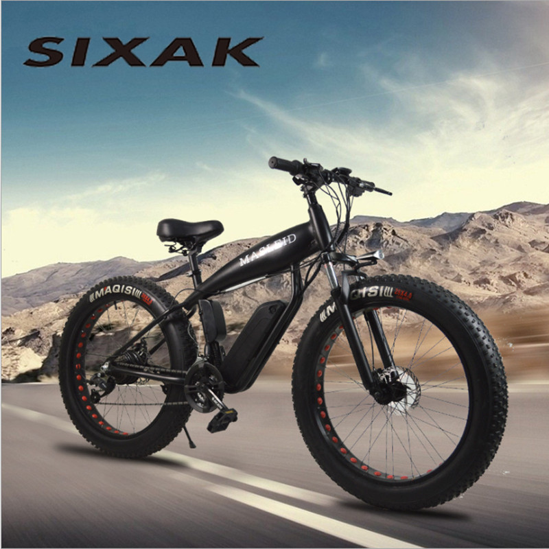 SIXAK Электрический велосипед 500 Вт 24 скорости сильная электрическая Смазка литиевая батарея электрический велосипед 26*4 кросс-кантри велосип...