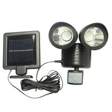 New Scenery 22led waterproof outdoor light solar wall LED lighting on energy