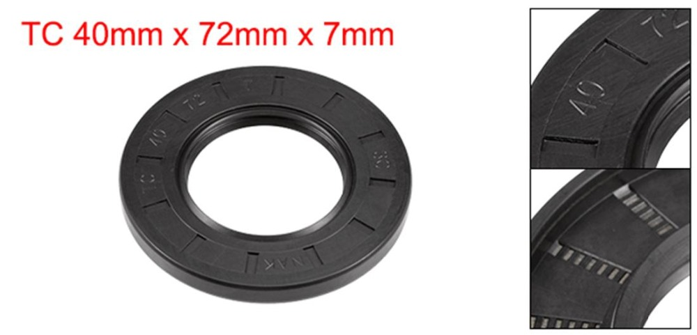 uxcell NBR TC 19mm x 30mm x 7mm Metal Spring Double Lip Oil Shaft Seal