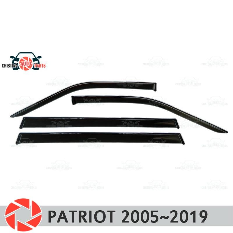 Déflecteur de fenêtre pour UAZ Patriot 2005 ~ 2019 déflecteur de pluie protection contre la saleté accessoires de décoration de voiture moulage