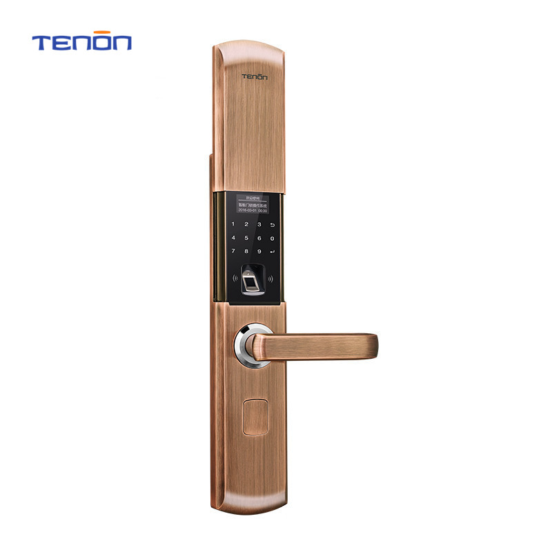 цены NEW T8E Green Bronze/ Champagne Gold/Red Bronze Intelligent Electronic Combination Lock Fingerprint Door Lock Anti-theft lock