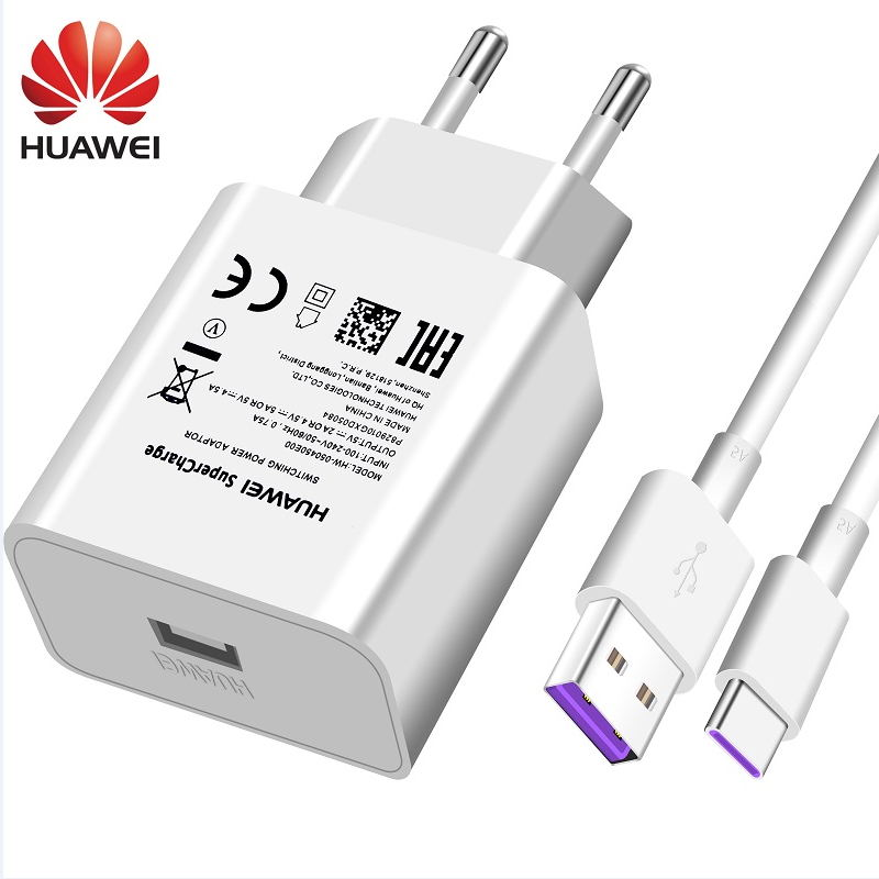 Huawei Honor 10 View10 USB Charger Wall Travel SuperCharge Fast Original 5V4.5A 5A USB Type C Cable P20 Pro Lite P10 P9 Plus