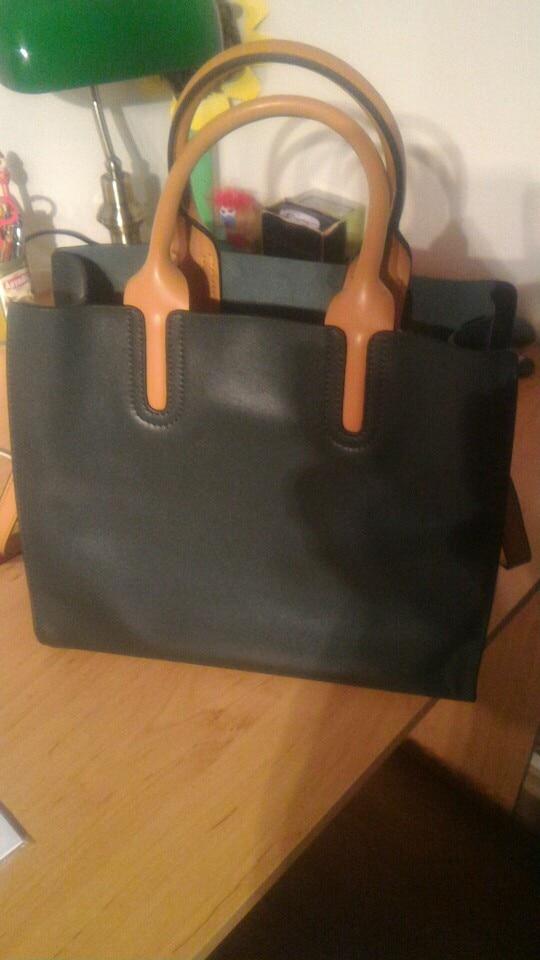 LY.SHARK Big Messenger Bag Women Shoulder Bag Female Bag Ladies Genuine Leather Bags For Women 2019 Women Handbags Green Black photo review
