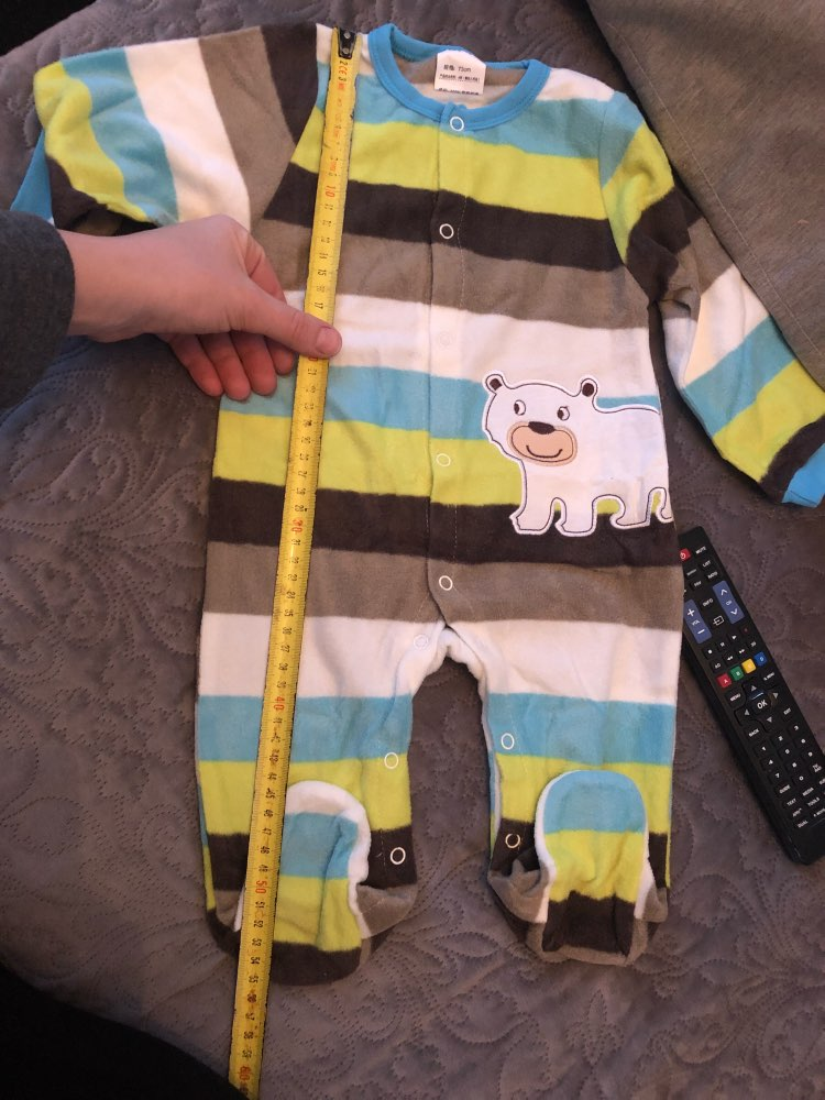 Baby Girl's Christmas Style Striped Cotton Jumpsuit photo review