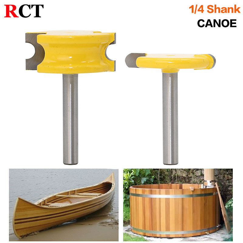 2 pc 1/4 Shank 1/4 Diameter Flute and Bead Router Bit Set wood cutter woodworking cutter woodworking bits wood milling cutter 1pcs 1 4x3 8x50 long straight shank diameter router bit 2 flute 1 4 shank woodworking milling cutter for wood milling machine