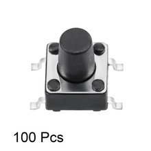UXCELL 100Pcs Switches 6x6x8mm Panel PCB Momentary Switch Tactile Tact Push Button 4 Terminals Accessories