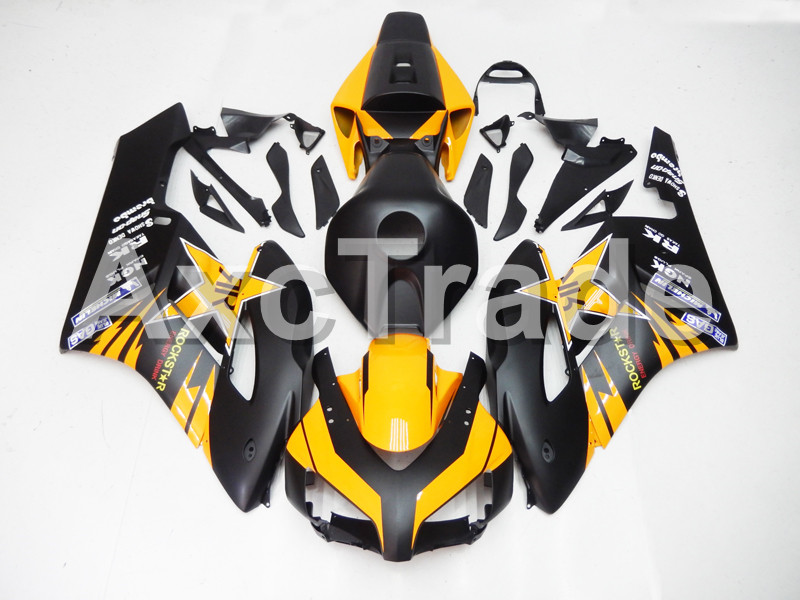 Motorcycle Fairings For Honda CBR1000RR CBR1000 CBR 1000 RR 2004 2005 ABS Plastic Injection Fairing Bodywork Kit Black Yellow Co injection mold fairing for honda cbr1000rr cbr 1000 rr 2006 2007 cbr 1000rr 06 07 motorcycle fairings kit bodywork black paint