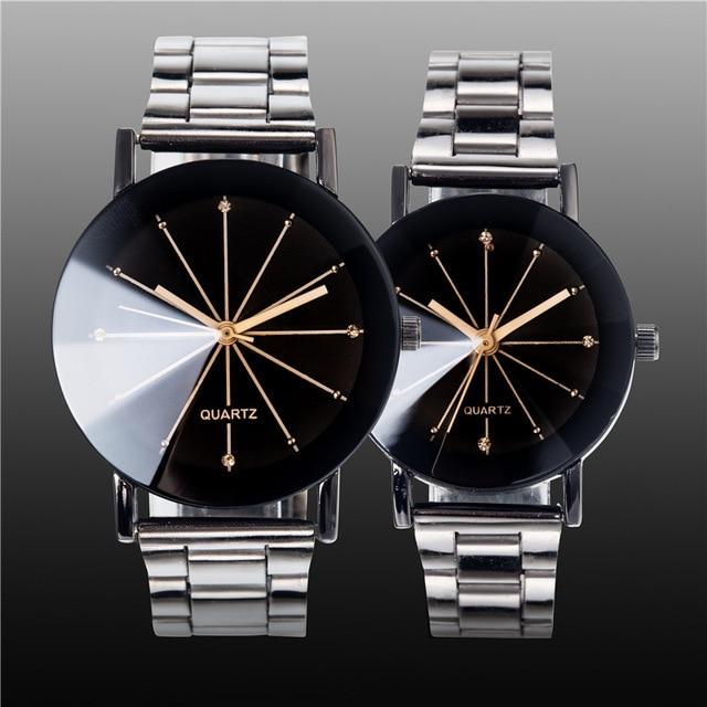 Luxury Lover Watches Quartz Dress Women Men Watch Couples Wristwatch Stainless S