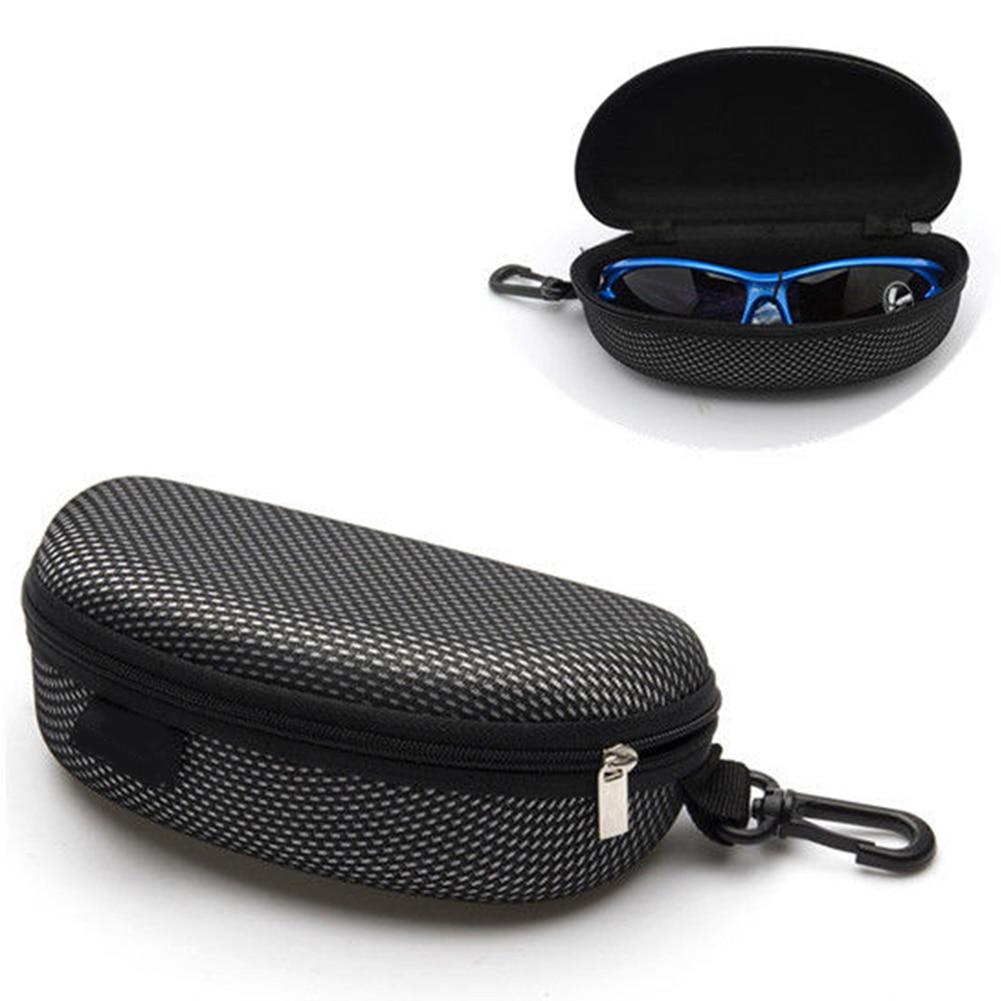2017 Black Eye Glasses Sunglasses Hard Case Portable Holder Protector Box Clamp Shell Mar18_15 Eyewear Accessories Men's Glasses