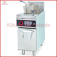 DF26A 1 tank free standing vertical electric oil fryer with timer for restaurant chip fried