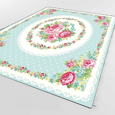 Else Blue Floor White Dot Red Roses Bird Flower 3d Print Non Slip Microfiber Living Room Decorative Modern Washable Area Rug Mat