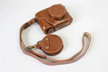 New Luxury PU Leather Video camera case bag for Fuji Fujifilm X100F With Strap Open battery 3 Color + Mini Pouch