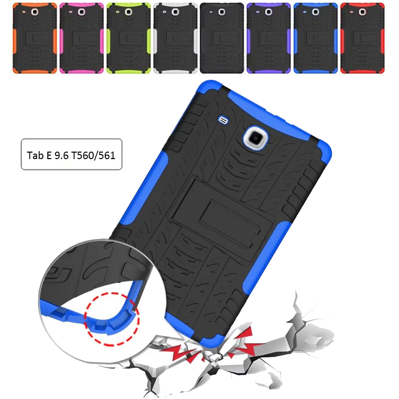 New Cover For Samsung Galaxy Tab E 9.6 Case child Armor Kickstand Silicone Cover for Samsung Galaxy Tab E Case T560 T561