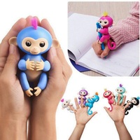 6 Color Fingerlings Toys Interactive Finger Monkey Smart Colorful Induction Christmas Gift Kids Pet Toys For
