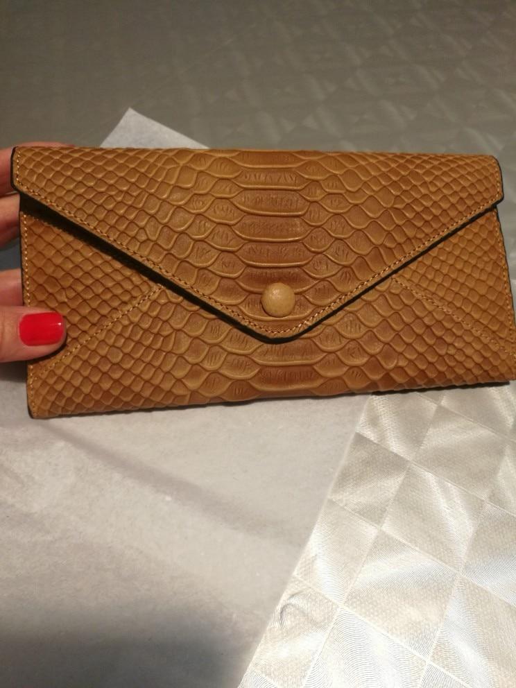 Famous Brand Luxury Genuine Leather Women Wallets  Pattern Designer Clutch  Female Purses  Ladies Card Holder Money Purse photo review