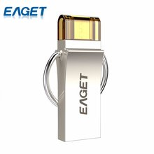 EAGET V90 16GB 32GB 64GB USB Flash Drive USB 3.0 OTG Smartphone Pen Drive Micro USB Portable Storage Memory Metal USB Stick