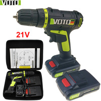 21V Power Tools Cordless Drill Electric Drill Electric Mini Electric Drilling Batteries Screwdriver Handheld Drill Eu