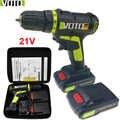 21 v ferramentas elétricas furadeira sem fio elétrica mini baterias de perfuração elétrica chave de fenda handheld broca plugue da ue