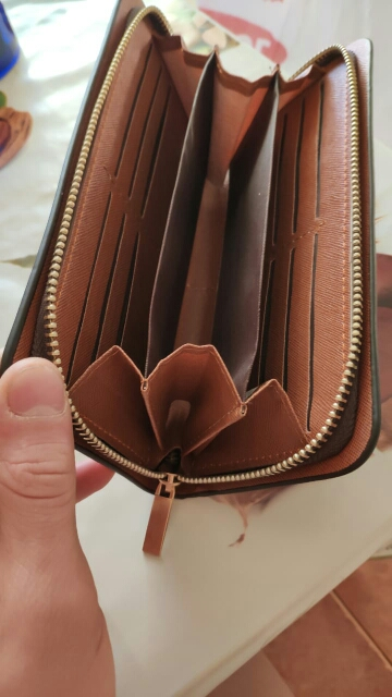 Leather Man Wallet Concise Money Bag Huge Capacity Thin Coin Purse Coin Card Holder Fashion 2019 Male Long Handbags Male clutch photo review