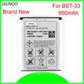 ISUNOO 950 мАч BST-33 BST 33 Замена батареи для Sony Ericsson K800 I SATIO U1 W880I K810I W100I T700 T715