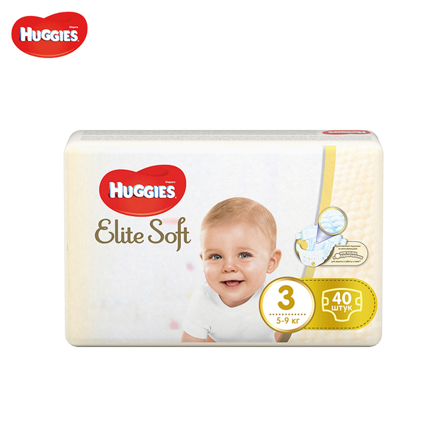 Подгузники Huggies Elite Soft Jumbo (3) 5-9 кг 40 шт.