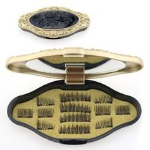 12pcs Magnetic Eyelash Extension 2 Magnet False Eyelashes Set 3D Magnetic Eye Lashes Extenstion with Mirror Lash Cilios Makeup цена