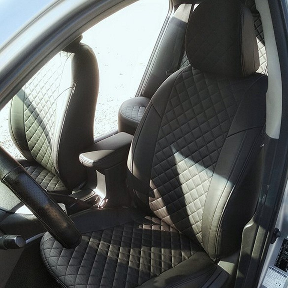 Per Toyota Corolla E150 2007-2013 sedile speciale copre set completo di Pilota Automatico Eco-pelle ROMB
