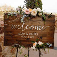 Wedding Welcome Sign Rustic Wedding Sign Wooden Name Sign Memory Collection