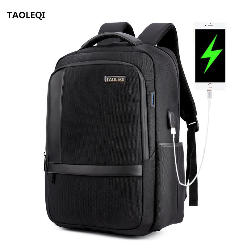 TAOLEQI New Schoolbag 1517 Laptop Backpack External USB Charge Computer Backpacks Anti-theft Waterproof Bags for Men Women quot laptop backpack external usb charge computer backpacks anti theft waterproof bags for men women school large capacity
