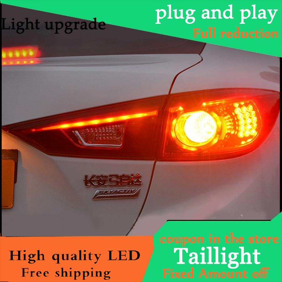Car Styling TailLight Case For Mazda 3 Axela Sedan 2014 2015 2016 Taillights LED Tail Lamp