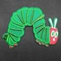 Очень голодная гусеница, зеленые насекомые, патчи для одежды с вышивкой утюгом, наклейки для одежды, аксессуары для одежды