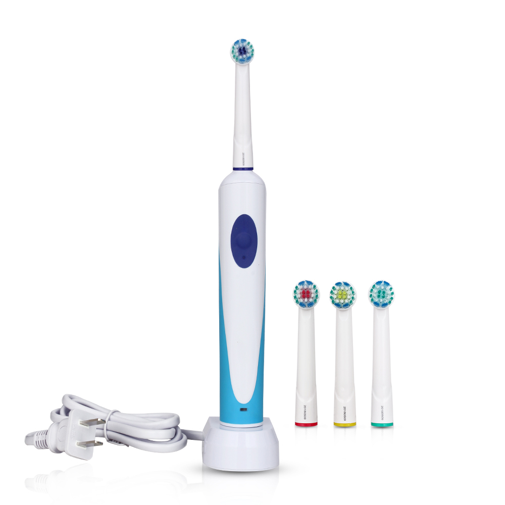 New Rotation Electric Adluts Toothbrush with 4 Heads Oscillation Rotary Toothbrushes Oral Care Tooth Deep Cleaning Waterproof image