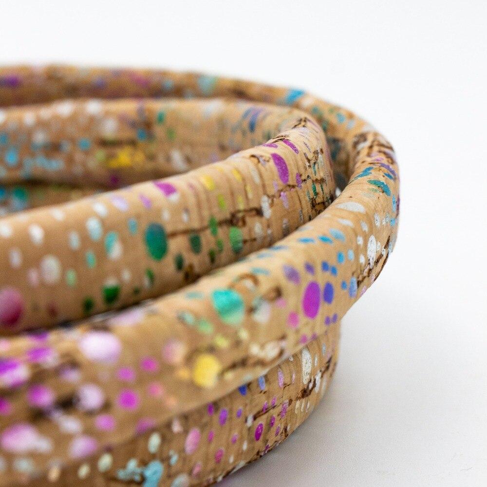 10x5mm Colorful Licorice Leather Cork Cord Portuguese Cork Jewelry Supplies /Findings Cord Vegan COR-342