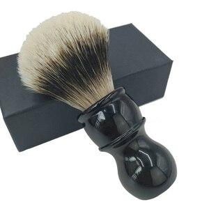 Image 5 - Dscosmetic フックアナグマ毛ゲルヒント 3 ノットシェービングブラシ黒樹脂ハンドル