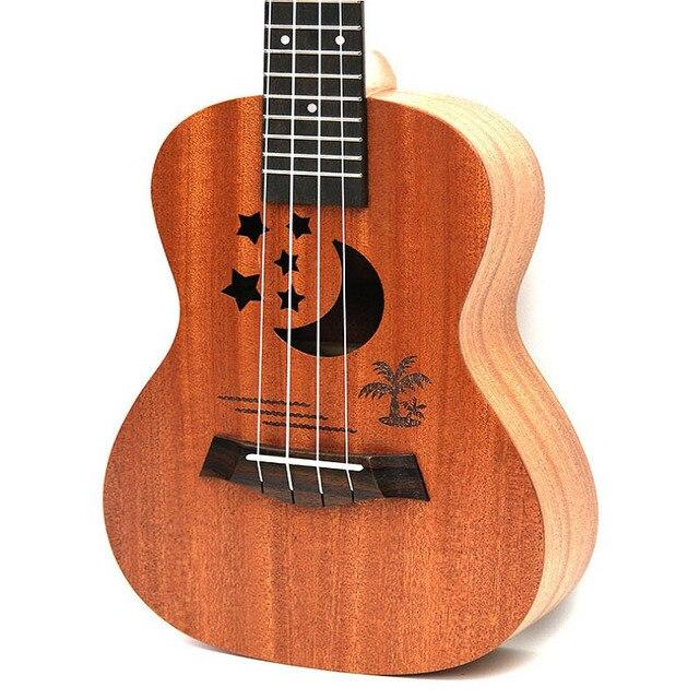 yichi professional 23 inch soprano ukulele uke hawaii guitar sapele