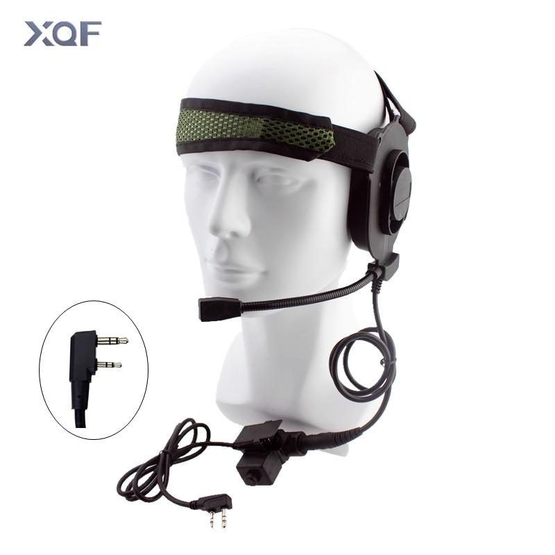 HD01 Tactical Bowman Elite II Radio Headset Earpiece With U94 Style PTT 2 Pin For Kenwood Baofeng UV-5R UV-82 Two Way Radio