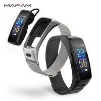 MAFAM Smart Talk Bracelet Band Fitness Tracker Blood Pressure Heart Rate Monitor Bluetooth Earphone Smart Wristbands Headphone