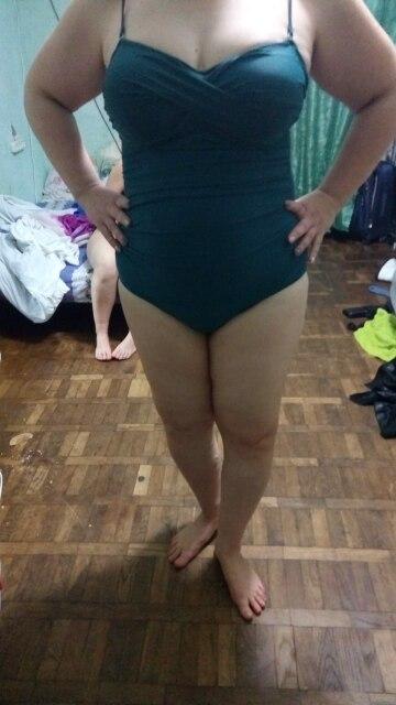 NAKIAEOI One Piece Swimsuit 2019 New Plus Size Swimwear Women Print Solid Swimwear Vintage Retro Bathing Suits Monokini Swimsuit-in Body Suits from Sports & Entertainment on AliExpress - 11.11_Double 11_Singles' Day