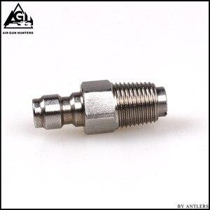 Image 2 - Paintball PCP บรรจุ Nipple สแตนเลส 8 มม.ถัง Coupler Plug One Way Foster 1/ 8NPT 10PCS Oring ฟรี