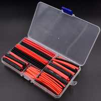 150 PCS Black And Red 2:1 Assortment Heat Shrink Tubing Tube Car Cable Sleeving Wrap Wire Kit