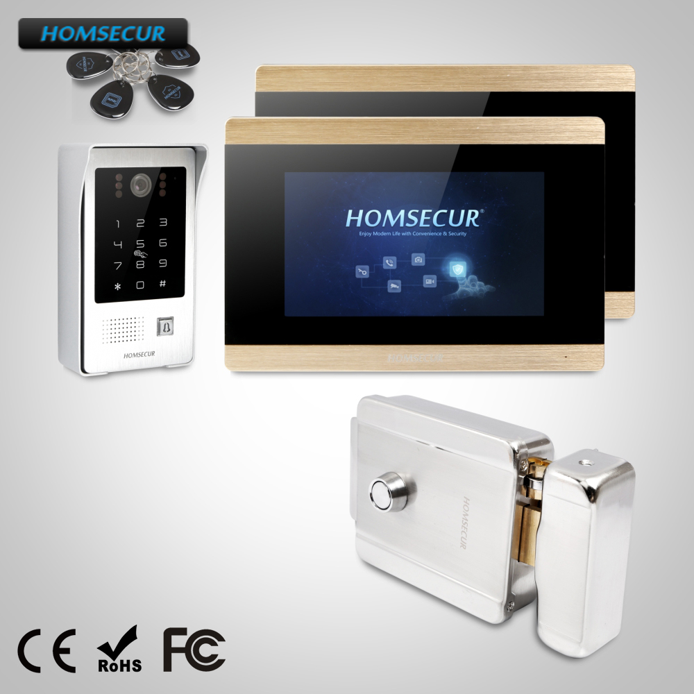 HOMSECUR 7 Wired Video Door Intercom Electric Lock+Keys Included BC091+BM715-GHOMSECUR 7 Wired Video Door Intercom Electric Lock+Keys Included BC091+BM715-G