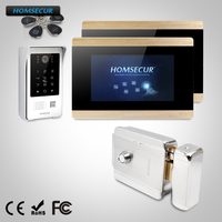 HOMSECUR 7 Wired Video Door Intercom Electric Lock+Keys Included BC091+BM715 G