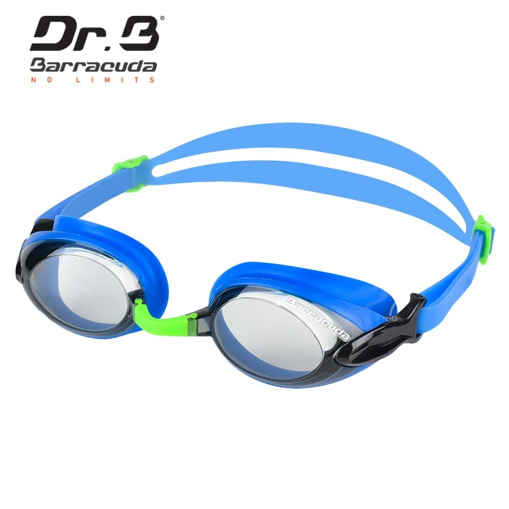 Barracuda Dr.B Myopia Swimming Goggles Anti-fog UV Protection Waterproof Blue for Women Men #92295 Eyewear