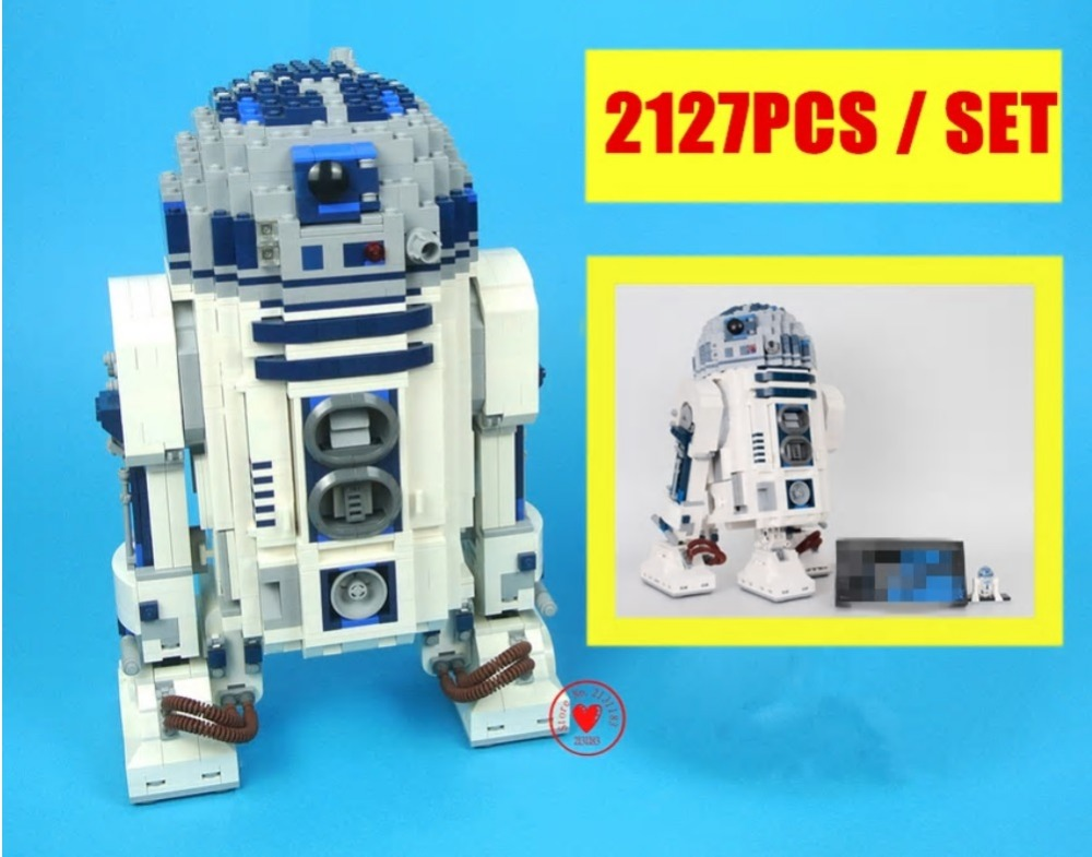 Toys for children R2-Robot Out of print D2 fit legoings star wars robot figures technic Building Blocks Bricks boys fit 10225 футболка print bar robot skater