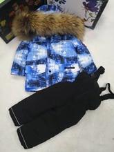 2018 детский зимний комбинезон, ветрозащитные непромокаемые комплекты для детей, лыжный костюм для мальчиков и девочек, зимний пуховик, детская одежда 85-145 см